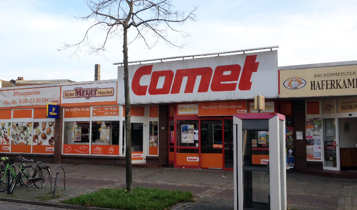 Der Comet-Supermarkt in Bremen Findorff war einer der letzten Franchiser [Copyright: retropie.de]