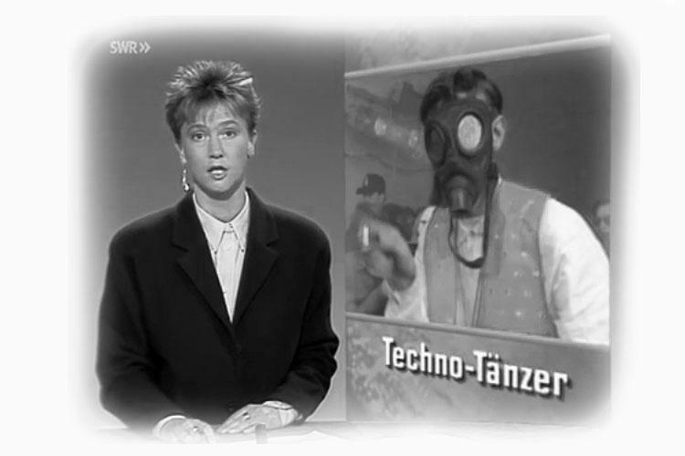"""""""Techno heißt das akustische Chaos. Mit Musik hat das ganze nicht viel zu tun, eher mit einer Art Rauschzustand."""" – SWR-Bericht 1992"""
