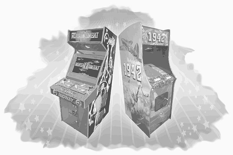 Arcade-Automaten von damals (Mortal Kombat 2 und 1942)