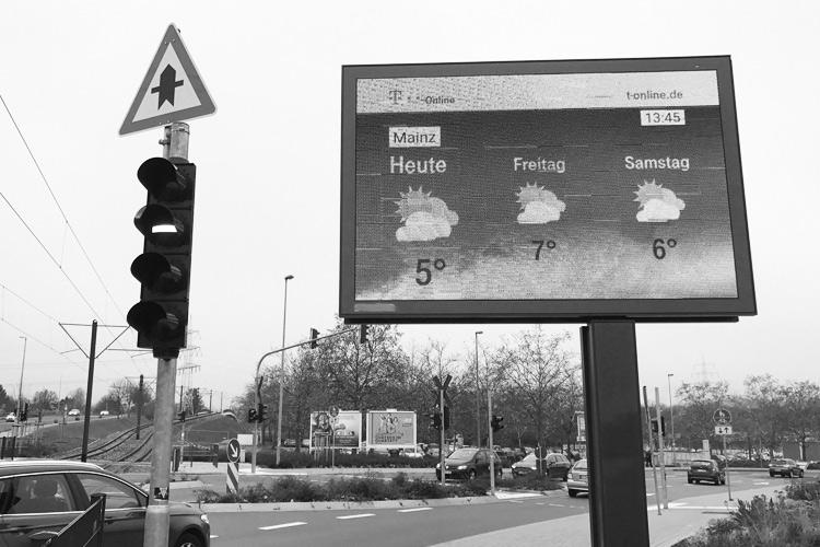Digitale Außenwerbung in Mainz