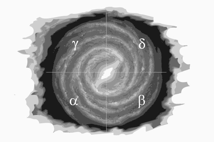 Die vier Quadranten der Milchstraße