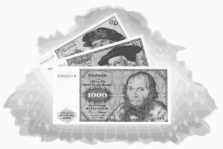 1000 DM Schein (1964) - Abbildung von Johannes Scheyring (†1516)