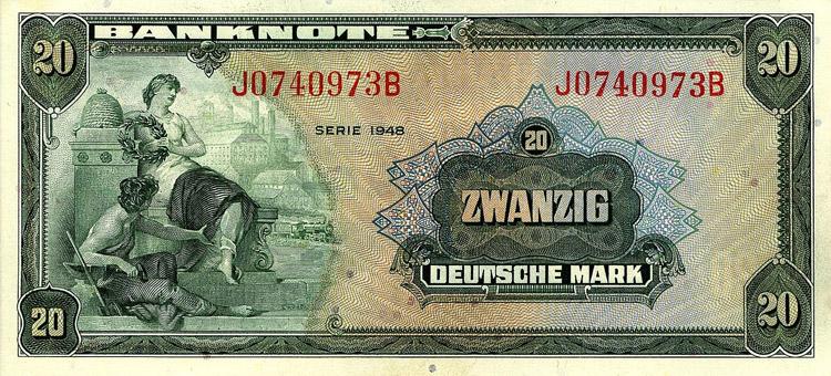 """Zwanzig Deutsche """"Dollar"""" (1948)"""
