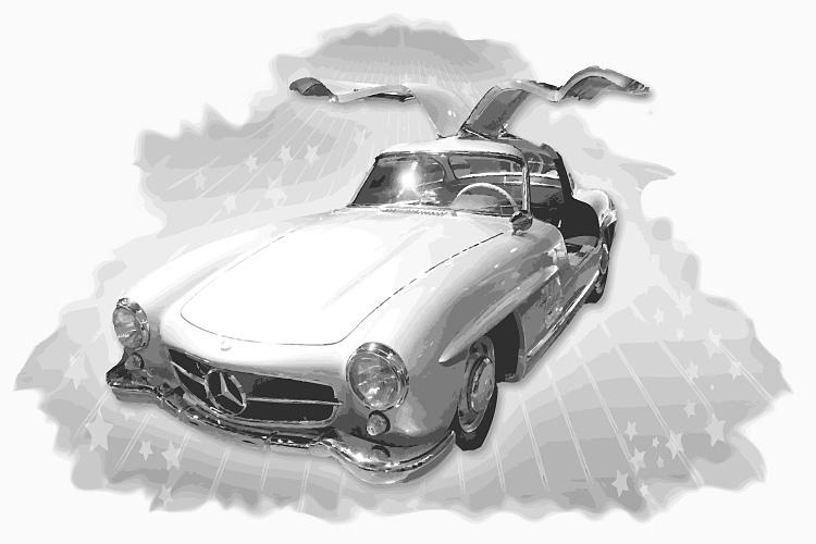 Zeitloses Automobildesign beim Mercedes-Benz 300 SL (1952)