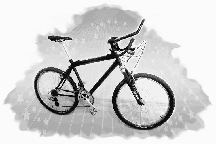 """Mein inzwischen fast 25 Jahre altes """"Bike"""" der Marke Eigenbau."""